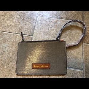 NEW Dooney & Bourke Tan Embossed Wristlet